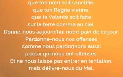 UNE NOUVELLE TRADUCTION DU «NOTRE PÈRE»
